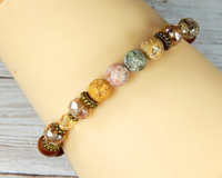 matte agate gemstone bracelet for women