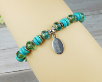 engraved jewelry for women turquoise bracelet