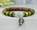 green nature bracelet leaf gifts handmade jewelry