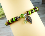 nature bracelets for women leaf charm jewelry