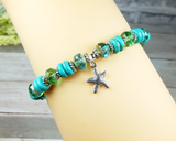 womens ocean inspired starfish bracelet