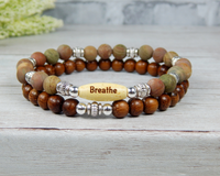 stacked yoga bracelets gemstone jewelry for women
