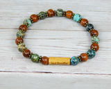 handmade nature jewelry yoga bracelet with word