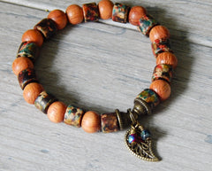bayong wood bracelet beaded nature jewelry