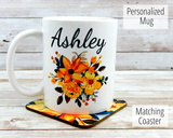 yellow-flower-personalized-mug