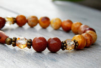 gemstone goldstone jasper beaded bracelet
