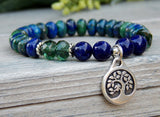 blue beaded tree of life bracelet