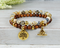yoga jewelry yogi bracelet nature bracelet with tree charm