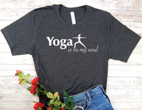 black yoga t-shirt for yoga lovers
