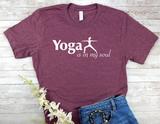 maroon yoga t-shirt for yoga lovers
