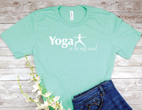 mint green yoga t-shirt for yoga lovers