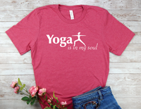 pink yoga t-shirt for yoga lovers