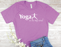 purple yoga t-shirt for yoga lovers