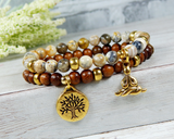 meditation mala stacked yoga bracelet yogi jewelry