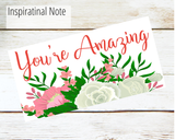 you're amazing greeting card