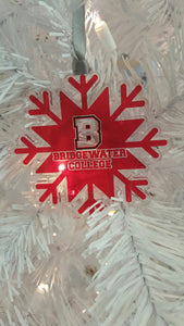 "Bridgewater College ""B"" Logo Snowflake Ornament"