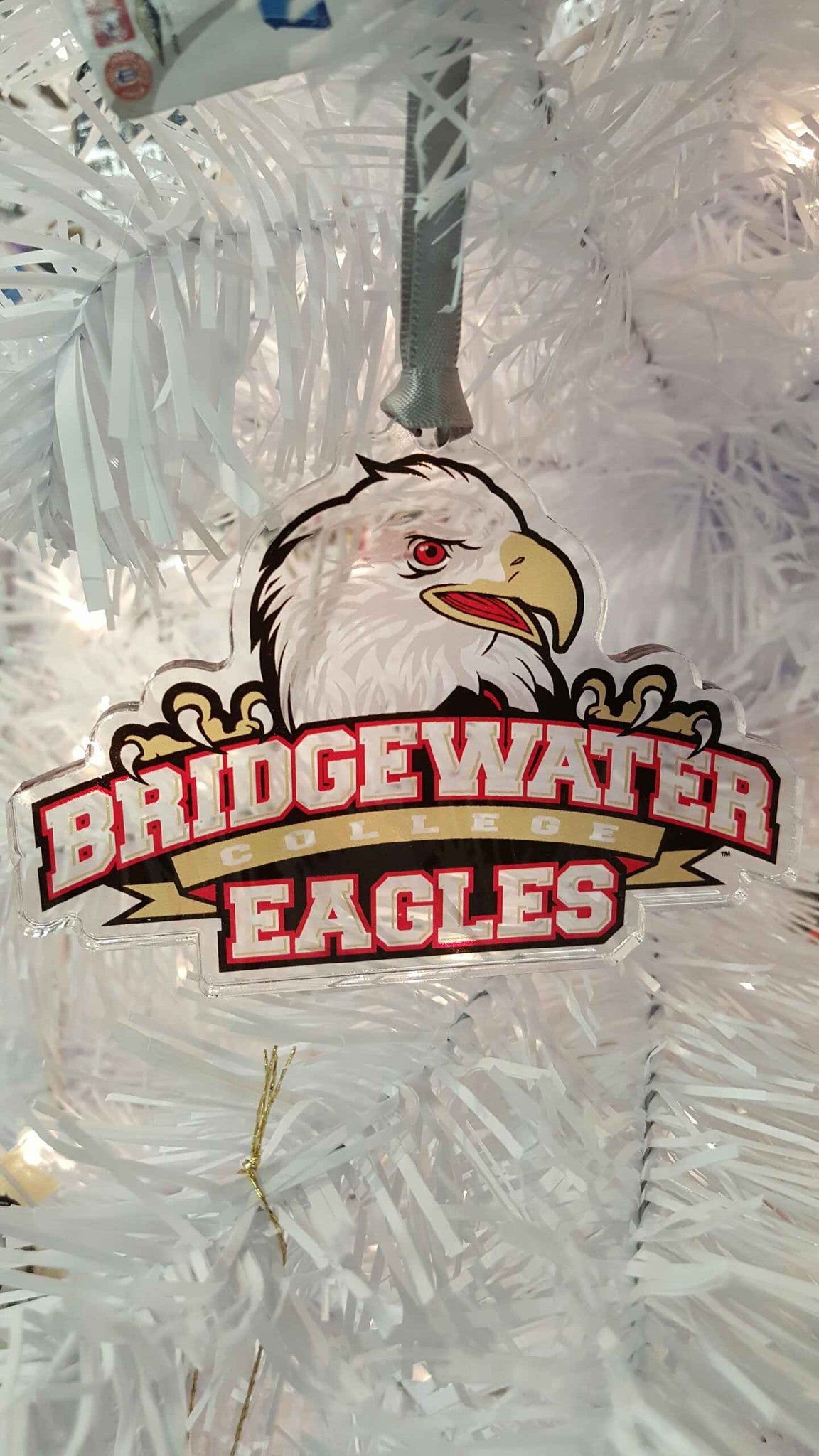 Bridgewater College Athletic logo Etched Ornament