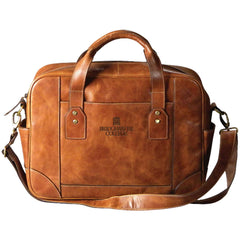 Bridgewater College Leather Briefcase