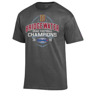Bridgewater College ODAC Football Champions 2019 Charcoal Short Sleeve Tee