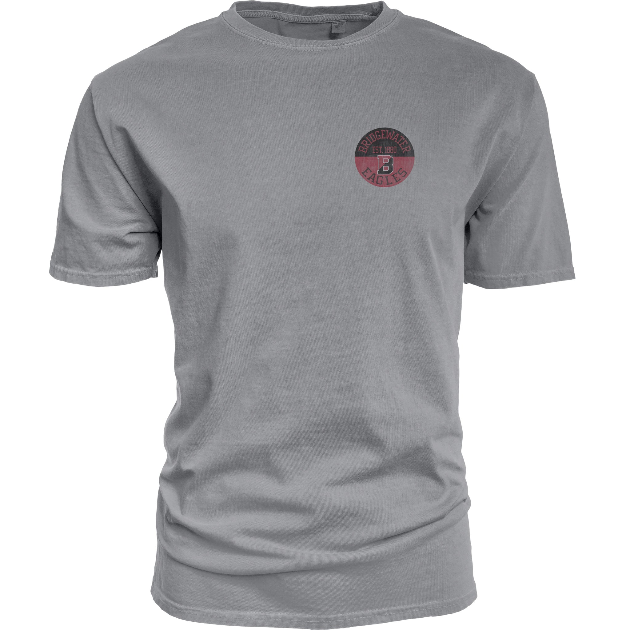 Bridgewater College Blue 84 Gray Split B Short Sleeve Tee
