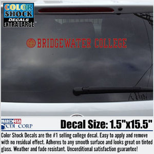 Bridgewater College Seal Decal Inside Application