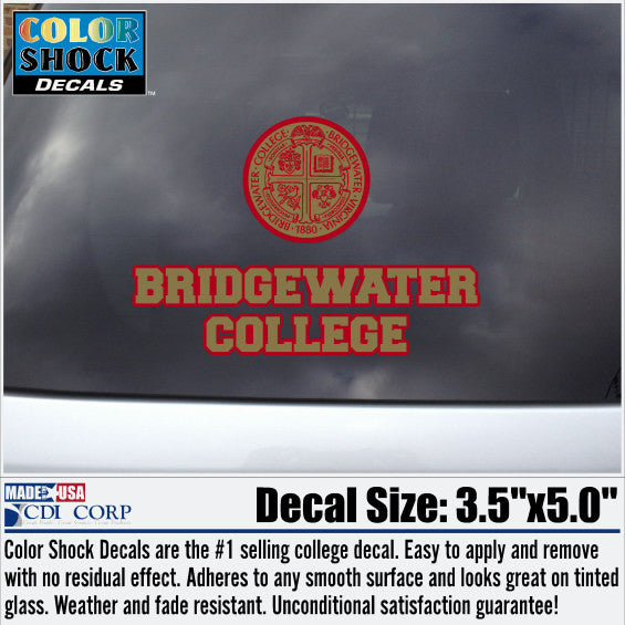 Color Shock Bridgewater College Decal