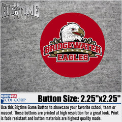 Bridgewater College Athletic Logo Spirit Button