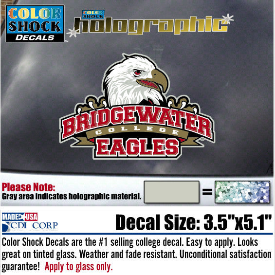 Color Shock Bridgewater College Athletic Logo Decal