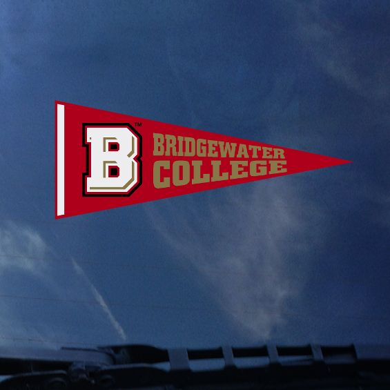 Bridgewater College Pennant Color Shock Decal