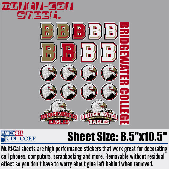 Bridgewater College Decal Sheet