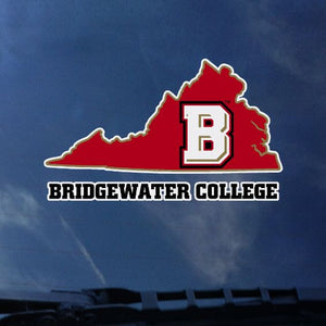"Bridgewater College Virginia State with ""B""Logo Color Shock Decal"