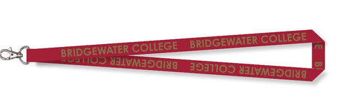 Bridgewater College Foil Crimson and Gold Lanyard