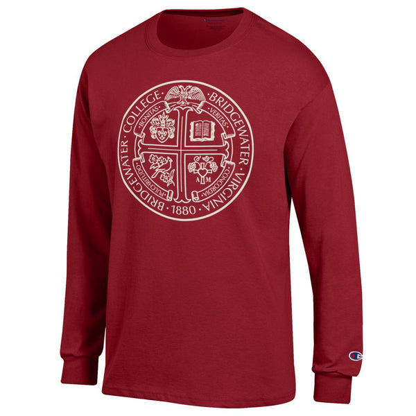 Champion Long Sleeve Cardinal Presidential Seal Tee
