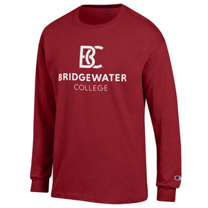 BC New Logo Champion Crimson Long Sleeve Tee