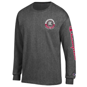 Bridgewater College Champion BC Graphite Long Sleeve Tee