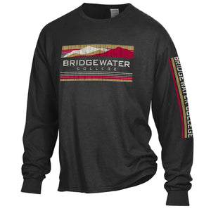 Bridgewater College Black Long Sleeve Mountain Tee