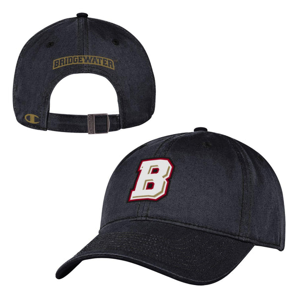 "Bridgewater College Champion Men's Black ""B"" Logo Adjustable Hat"