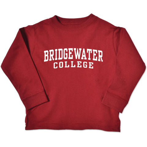 Bridgewater College College Kids Toddler Long Sleeve Crimson Tee