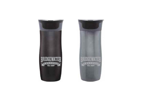 Bridgewater College Contigo Black Coffee Mug with Lid