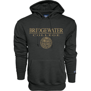 Blue 84 Charcoal Hood with Gold Bridgewater College Presidential Seal