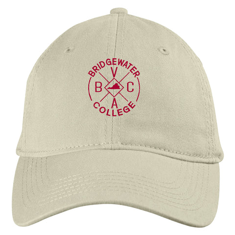 Blue 84 Bridgewater College Natural Cream Adjustable Hat