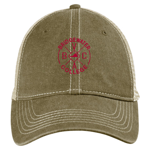 Blue 84 Bridgewater College Sand/Stone Trucker Hat