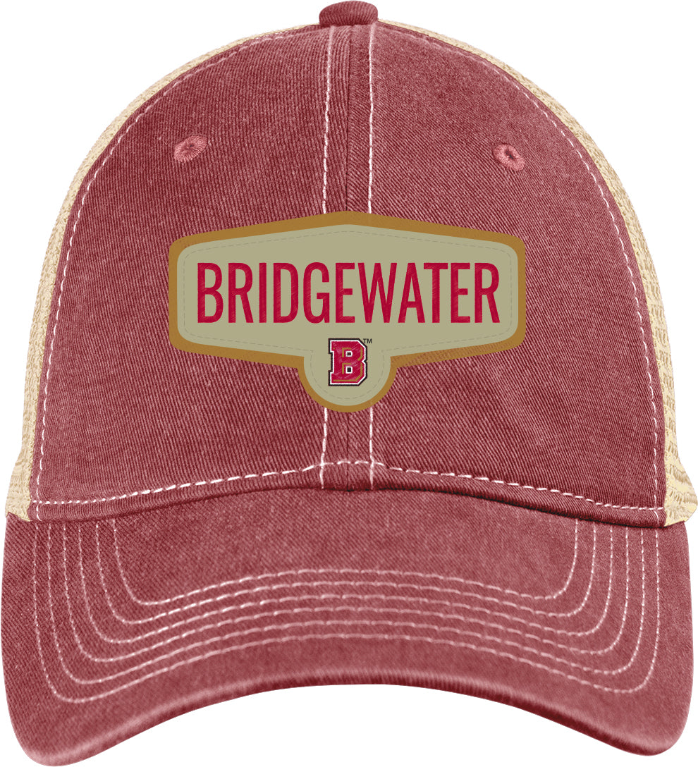 Bridgewater College Blue 84 Adjustable Trucker Red/Khaki Scout Hat
