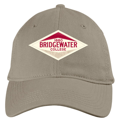 Blue 84 Mocha Bridgewater College Adjustable Slick Value Twill Patch Hat