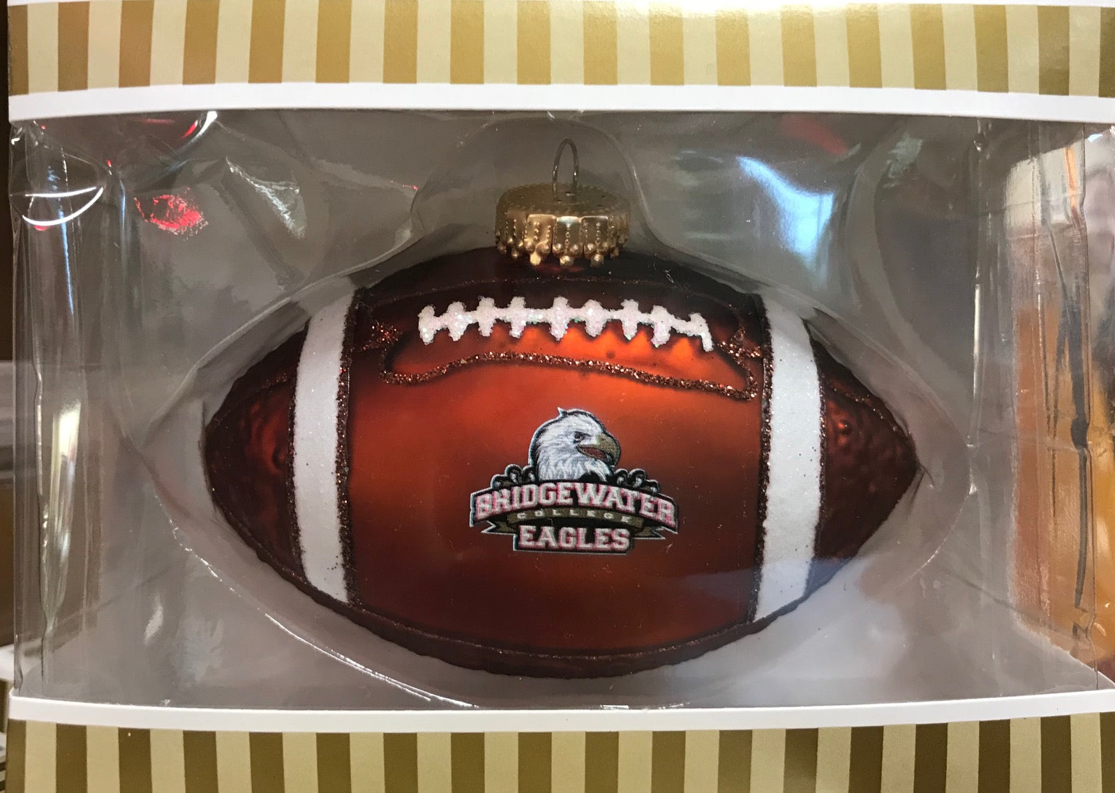 Bridgewater College Football Christmas Ornament
