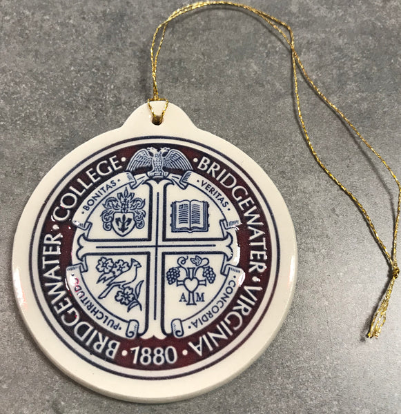 Deneen Pottery Cranberry Presidential Seal Ornament