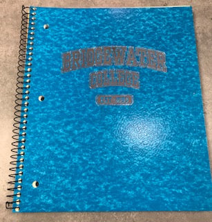 Bridgewater College EST- 1880 Baby Blue College Ruled Spiral Notebook
