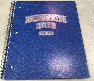 Bridgewater College EST- 1880 Royal Blue College Ruled Spiral Notebook