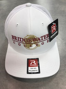 Richardson Bridgewater College White Flex Fit Hat