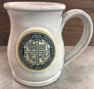 Bridgewater College Deneen Pottery White Presidential Seal Belly Mug